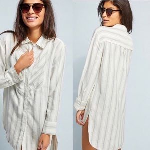 Lilka by Anthropologie striped oversized hi lo top